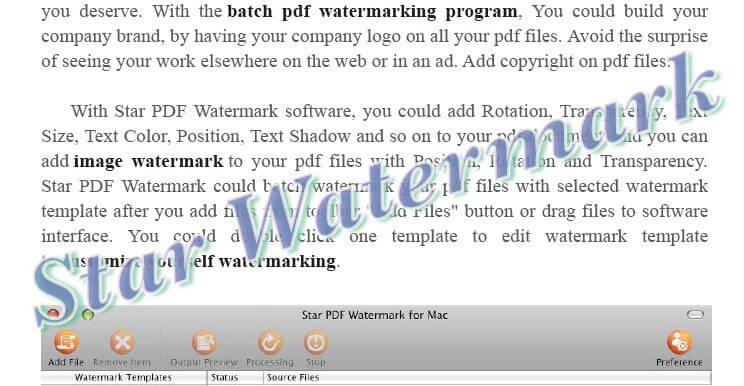 watermark template